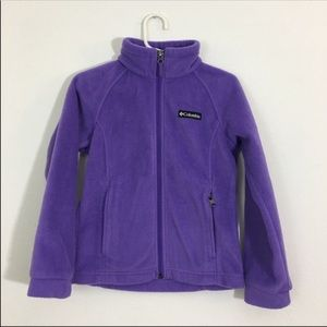 Columbia Benton spring fleece jacket Girls Size 8